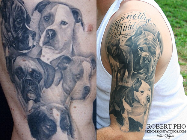 Tattoos for dogs and dog tattoo portraits dorri olds for Tattoo of my dog