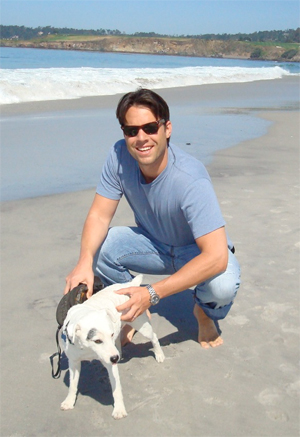 Russ Ryan and his dog